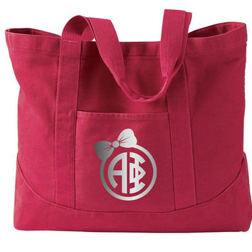 Alpha Phi // Pigment Dyed Large Tote // Sorority Gift // Sorority Tote // Choose Your Colors!