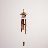 Bamboo Birdhouse Wind Chimes - World Market
