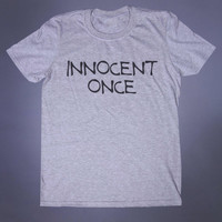 Alternative Clothing Innocent Once Slogan Tee Sarcastic Soft Grunge Punk Emo Goth Punk Tumblr T-shirt