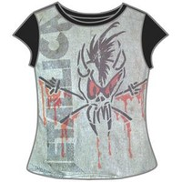 Metallica  Scary Guy (Sizes Run Very Small) Junior Top Grey