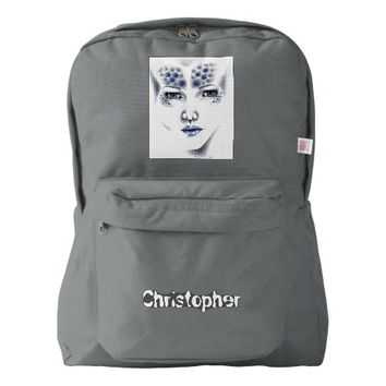 Miss Universe Beautiful Alien Woman Original Art Backpack