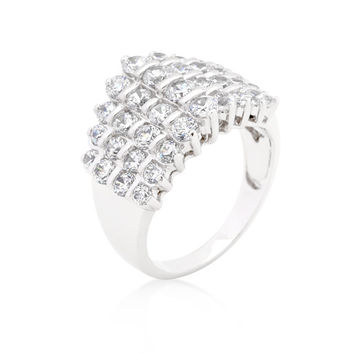 Classic Cubic Zirconia Step Ring