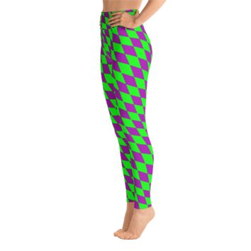 Diamond Checkered Mardi Gras Leggings