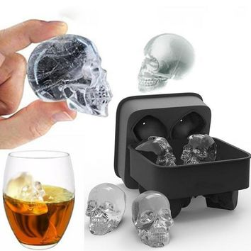 Large Ice Cube Tray Mold 3D Skull Silicone