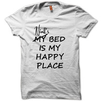 Funny Shirt Niall's Bed Is My Happy Place Shirt Logo Unisex T-Shirt Tee Size S,M,L,XL (N-1)