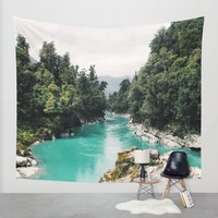 A River Runs Through It Wall Tapestry by Gallery One