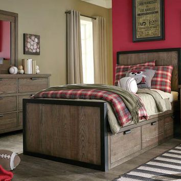 5900 Fulton - Complete Panel Bed with Underbed Storage Drawer - Twin