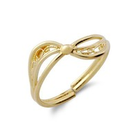 Filigree Bow Ring- 24k gold over silver by Rozmarinjewelry on Etsy