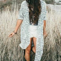 Boho Long Knit Cardigan Wrap