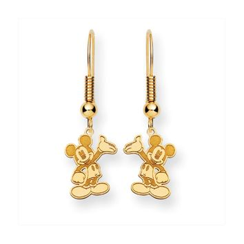 Disney's Waving Mickey Mouse Earrings in 14k Gold
