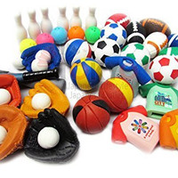 IWAKO 10 of Assorted Sports Japanese Erasers (10 erasers will be randomly selected from the image shown)