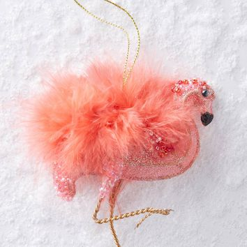 Plumed Flamingo Ornament