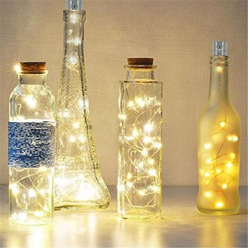 ECLH 1*AA battery power Warm white Bottle Lights LED Cork Shape String Lights for Bistro Wine Bottle Starry Bar Party Valentines