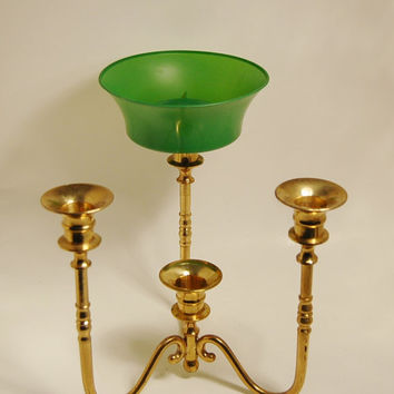 Solid Brass Candle Holder Convertible Centerpiece Candelabra