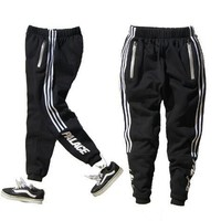 Palace Pants Elastic Waist Striped Fashion Harem Men Women Sportswear Heavyweight Snow Pants xhb915 Palace Skatebaords