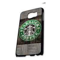 Wood Print Starbucks Coffee Logo Samsung Galaxy S6 Case