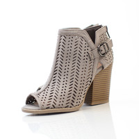 Try Me Peep Toe Bootie - Taupe
