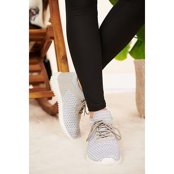 Walk On Over Knit Sneakers (White/Black)