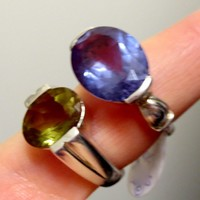Vintage Amazing Alexandrite Gemstone 925 Sterling Silver Ring
