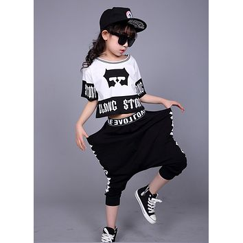 Children's Streetwear Fashion Set Suits Kids Clothing Hip Hop Dance Sets For Girls And Boys Jazz Clothing Costumes Sets Kid Suit