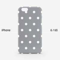 iPhone case - Chic Grey Dot - iPhone 6 case, iPhone 6 Plus case, iPhone 5s case, iPhone 6s case, matte non-glossy M22