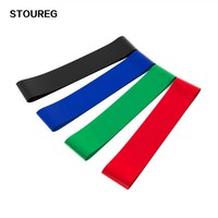4pcs/Set Elastic Resistance Bands Workout Rubber Loop Fitness Gym Strength Training Equipment