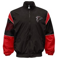 Starter Atlanta Falcons Gust Full Zip Jacket - Black
