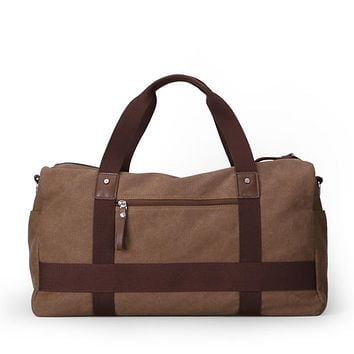 Multifunctional Canvas Travel Duffle Bag