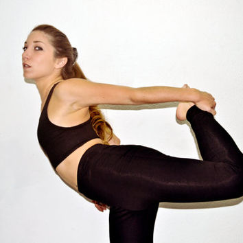 yoga or pilates pants -women high waisted leggings *** lycra spandex or organic cotton with lycra