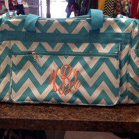 Large Chevron Duffle Bag- Great for Teens, Women, Students for Traveling, Vacations, College, Overnight bag, etc.