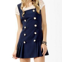 Pleated Sailor Dress