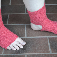 Knitting Pattern Yoga Dance Sock Women's Yoga Socks Yoga Sock Pattern Knit Yoga Socks Toeless Socks
