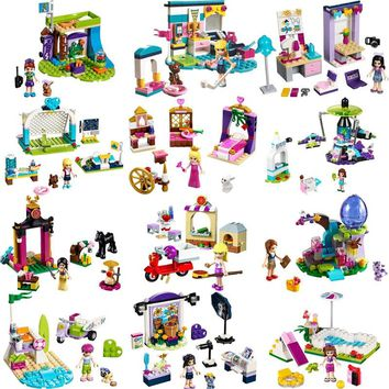 Mailackers Legoing Girls Series Building Blocks Toys For Children Compatible Legoings Friends Bricks Star House Modle Best Gifts
