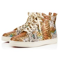 Rantus Orlato Men's Flat Multi/Light Gold Python Ecorce - Men Shoes - Christian Louboutin