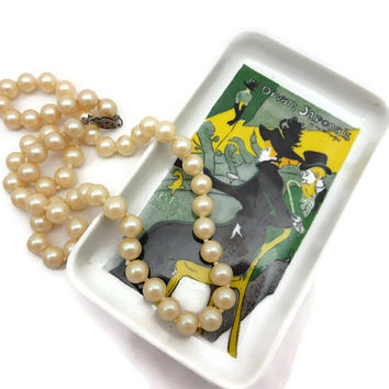 Limoges Tray - Toulouse Lautrec Art, Trinket Dish, Soap Dish, Card Plate, French