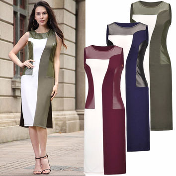 Plus Size Sleeveless Office/Party Clothing in Ivanka Trump's Style Pencil Vintage Clothing for Women