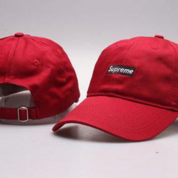 Supreme Women Men Embroidery Baseball Cap Hat Sport Sunhat-6