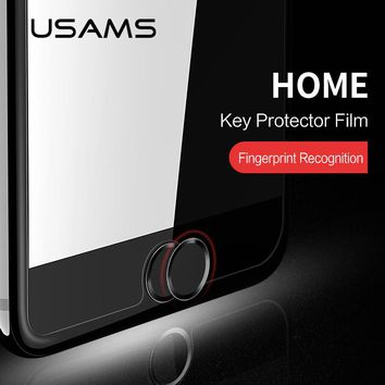 USAMS Aluminum Touch ID Home button Sticker for iPad,support Fingerprint Unlock Touch for iPhone 7/7 plus/6/6s plus/5/5s/se