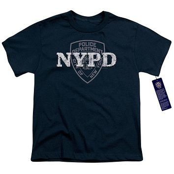 NYPD Kids T-Shirt New York Police Dept Logo Navy Blue Tee