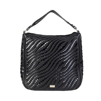 Cavalli Class Black Shoulder Bag
