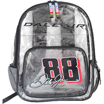 #88 Dale Earnhardt Jr NASCAR Clear Backpack By Olivet International -2640A-88: FloridaFishAndTackle