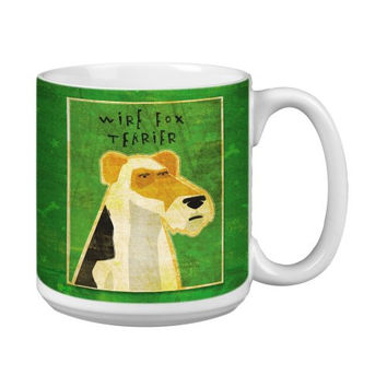 Tree-Free Greetings XM27992 John W. Golden Artful Jumbo Mug, 20-Ounce, Wire Fox Terrier