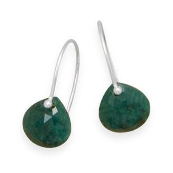 Rough-Cut Emerald Earrings