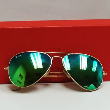 Cheap Ray Ban Large Metal RB3025 112/19 Gold Aviator Sunglasses w/ Green Mirrored lens outlet