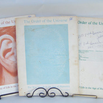 Vintage Metaphysical Booklets 1970s Order of the Universe Spirituality Health Diet New Age Oriental Medicine Michio Kushi Macrobiotic