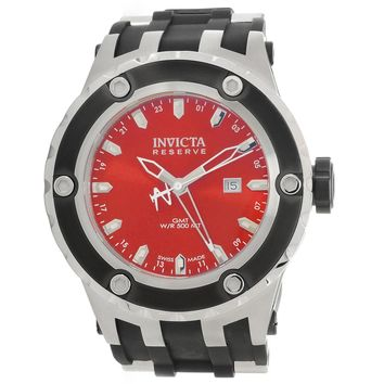 Invicta 80584 Men's Subaqua Specialty Reserve Red Dial Black Rubber Strap GMT Dive Watch