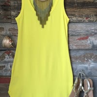 Fun in the Sun Tank Dress: Yellow