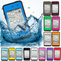 2014 New WATERPROOF Shockproof PC Case cover For Apple iPod Touch 4G Gen4