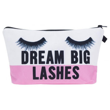 'Dream Big Lashes' Cosmetic Bag