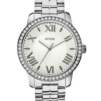 Guess Ladies Silver Tone Luxe Oversized Watch